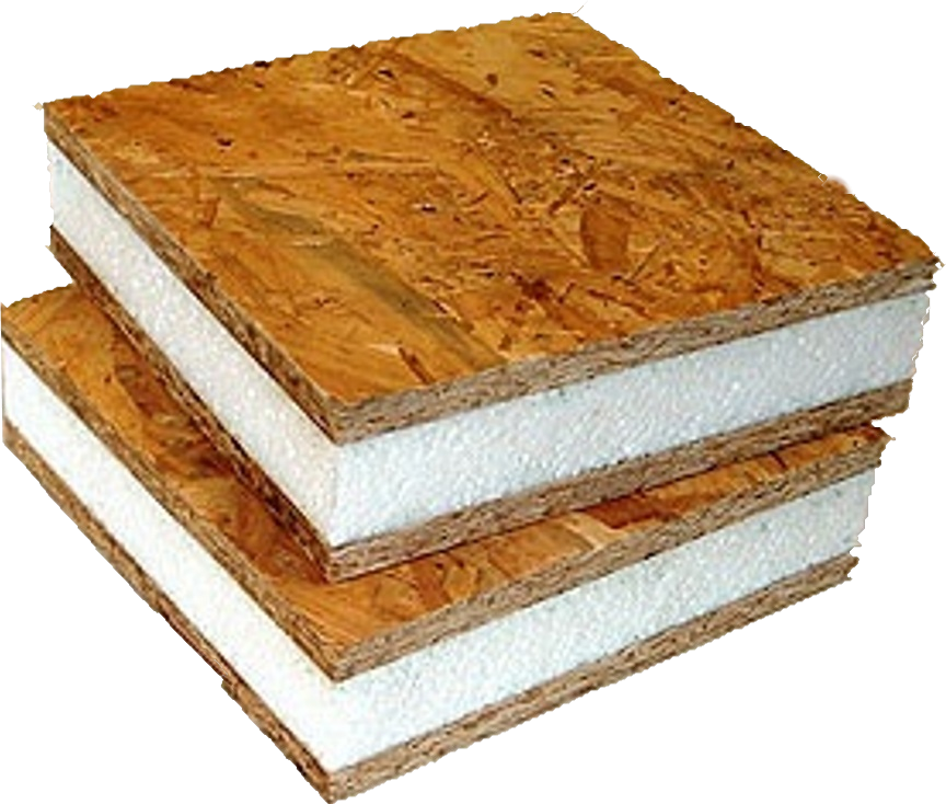 A sips sandwich saves energy with airtight insulation for Sip building kits